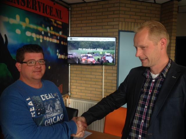 Handdruk Evenementenservice.nl en PK-Weekend