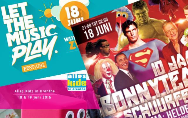 evenementen op 18 en 19 juni 2016